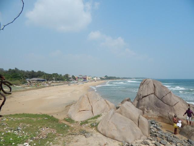 Strand von Mahabalipuram Indien
