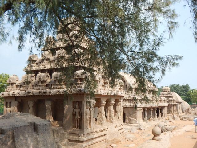 Mahabalipuram fuenf Rathas