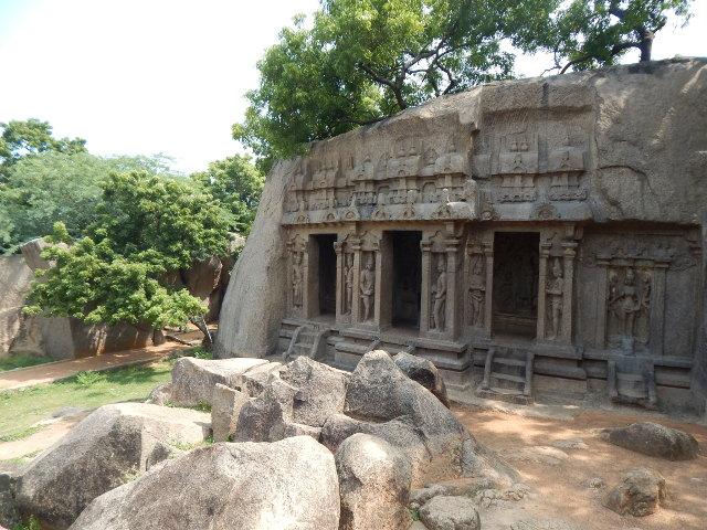 Mahabalipuram Tempel Trimurti Cave
