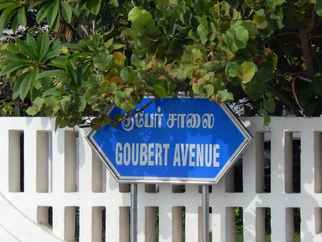 Pondicherry französisches Straßenschild
