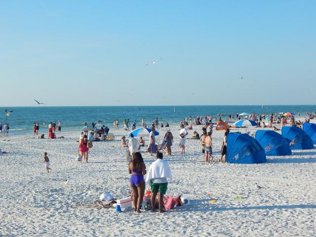 Strahlend weißer Strand Clearwater Beach