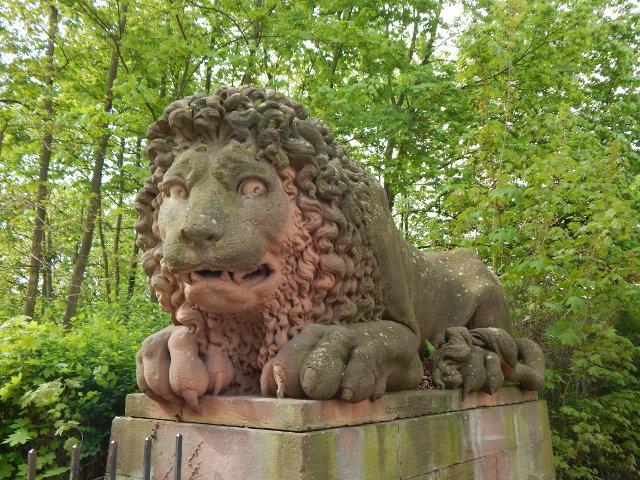 Wilde Löwen von Schloss Löweinstein