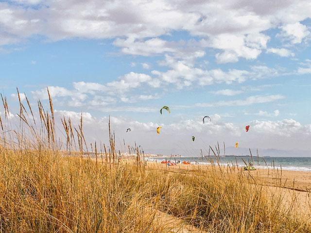 Kitesurfer in Tarifa