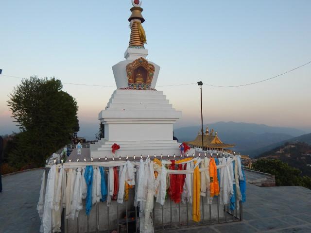 Stupo beim Namo Buddha Kloster