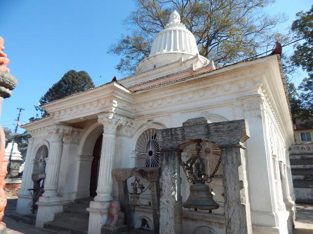 Der Ram Mandir Tempel in Pashupatinath, Nepal