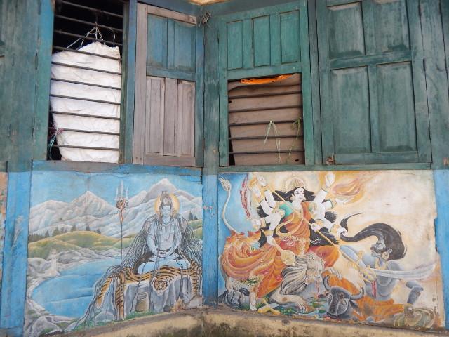 Gezeichnete Legenden des Shiva in Pashupatinath.