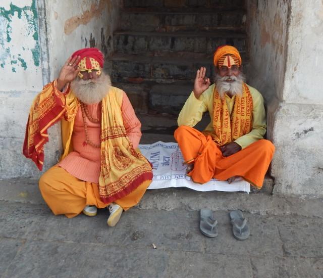 Freundliche Sadhus in Pashupatinath,Nepal