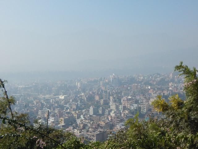 Blick auf Kathmandu vom Affentempel aus.
