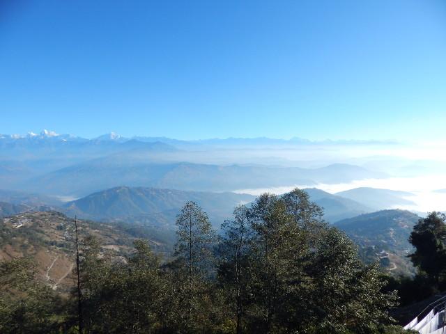 Blick aus unserem Zimmer in Nagarkot