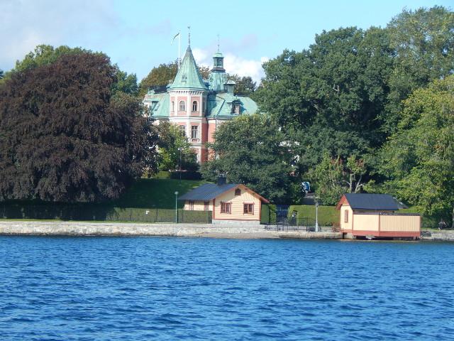 Stockholm vom Boot aus, Schifffahrt.