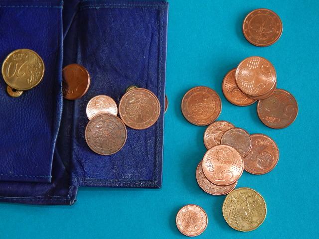 Kleingeld, Münze, Geld sparen.