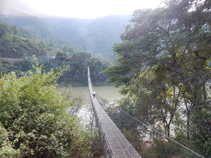 Hängebrücken über den Trishuli