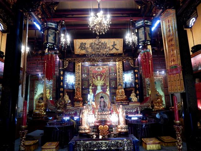 Leong San See-Tempel von Innen Little India Singapur