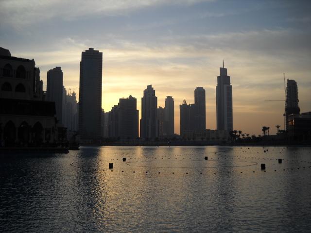 Sonnenuntergang über Dubai