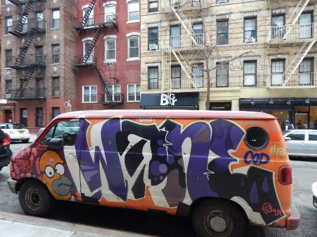Graffiti auf einem Auto in New York