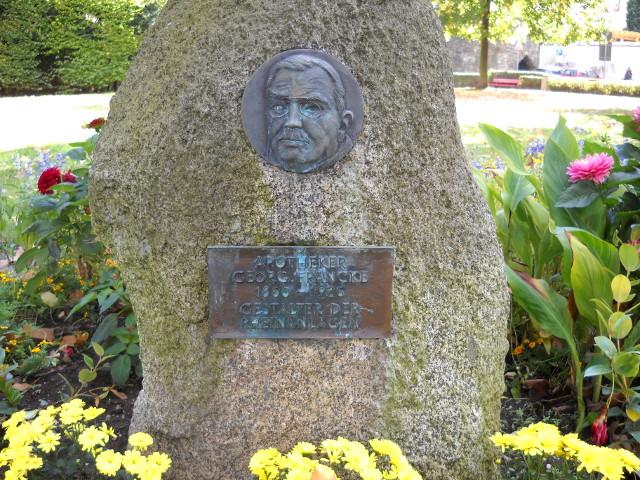 Georg Francke Gedenkstein