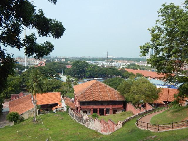 Blick vom St. Pauls Hügel in Malakka, Malaysia