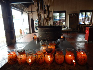Kerzen im Tempel
