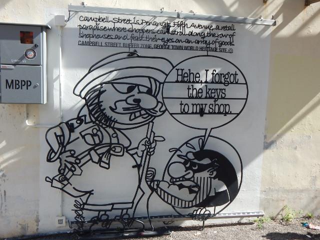Street art Penang, George Town, Campbell Street.