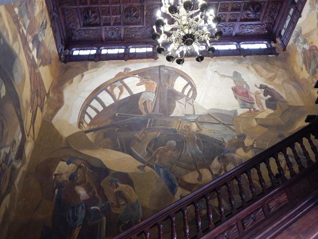 Wandgemälde im Rathaus Santa Cruz