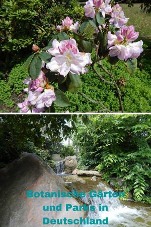 Botanische Gärten und Parks in Deutschland für Pinterest