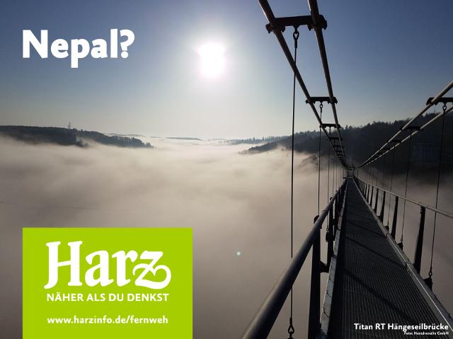 Die Hängebrücke Titan RT im Harz