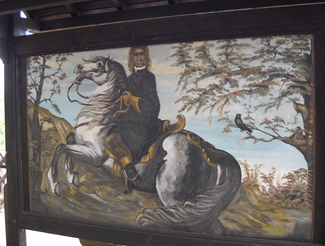 der Heide auf seinem Pferd am Gedeonseck in Boppard.