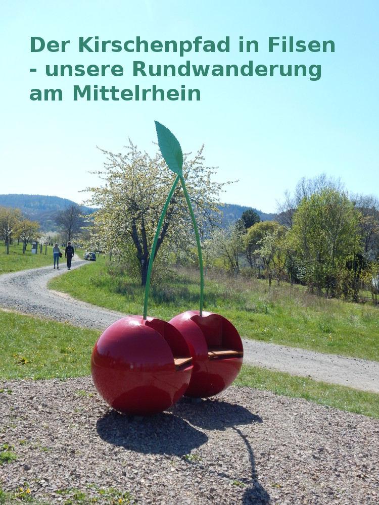 Der Kirschenpfad in Filsen am Rhein, ein Rundwanderweg mit Ausblick