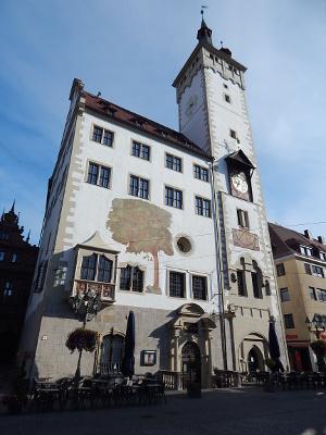 Grafeneckart, ein Teil des Würzburger Rathauses, Würzburg Rundgang