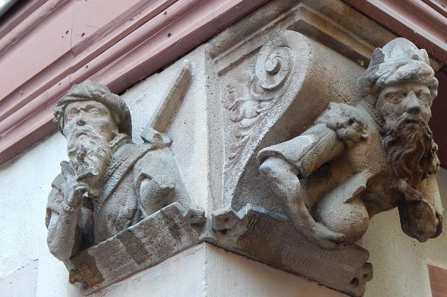 Kragsteine der Vier Gekrönten in Wertheim