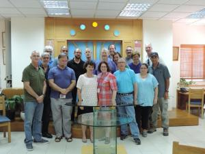 CCAR with Rabbis Kinneret Shiryon and Nir Barkin at  Kehillat Yotzma in Modi'in.