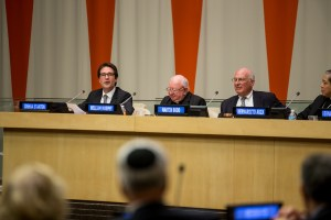 Rabbi Joshua Stanton at IJCIC Meeting at the UN. Photo by Dov Lenchevsky