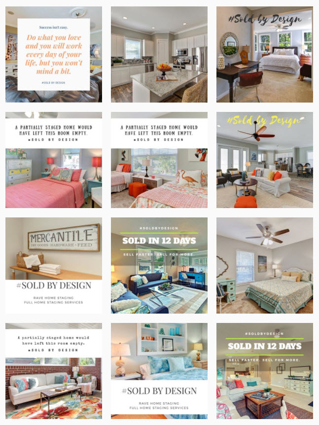 home staging photos on instagram