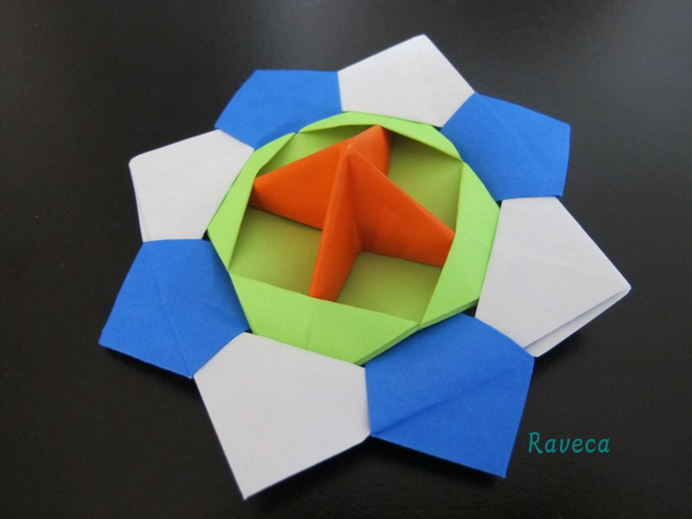 Origami - Spinning top / Titirez (video) (2/3)