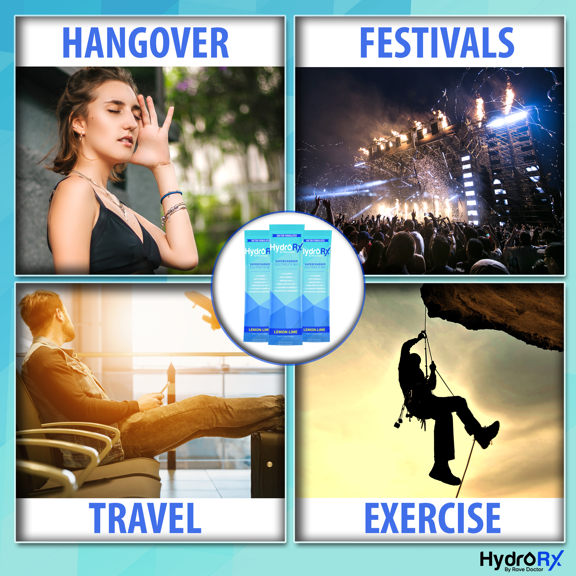 8 HydroRX by Rave Doctor Sports Drink For Hangovers, Festivals, Travel, and Exercise copy