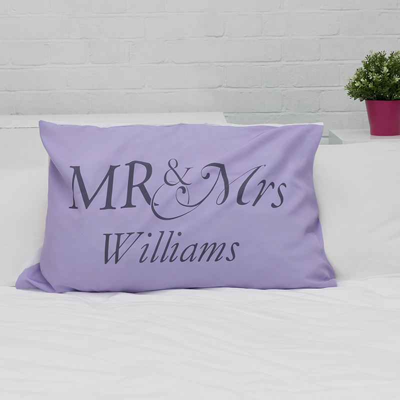 personalised mr and mrs pillow cases