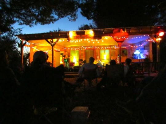 Frog Pond Stage By Night