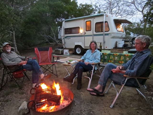 Relaxing at camp with Kath & Ted