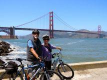 Survived biking the Golden Gate Bridge