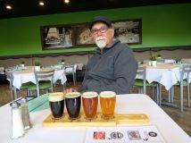 Beer flight at Kicks on Route 66