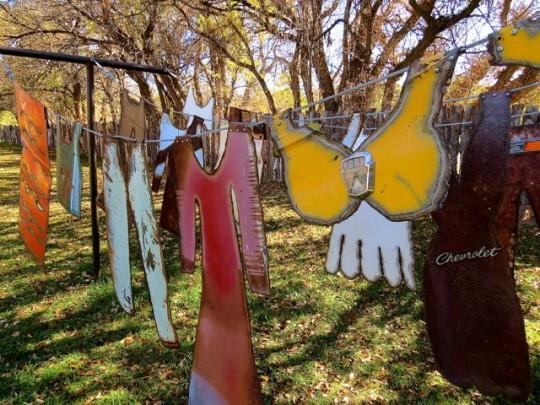 Clothesline Sculpture At Shidoni