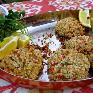 Crab cakes made with Gulf blue crab