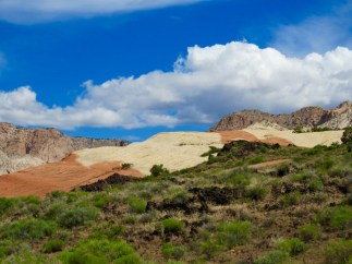 Lava Beds And Sandstone