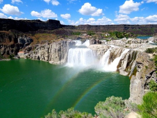 Double Rainbow Over Shoshone Falls