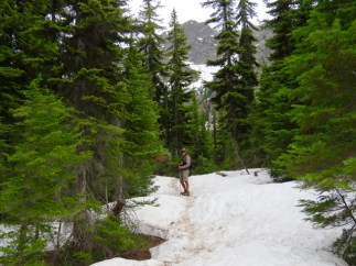 Snow in June even at lower elevations