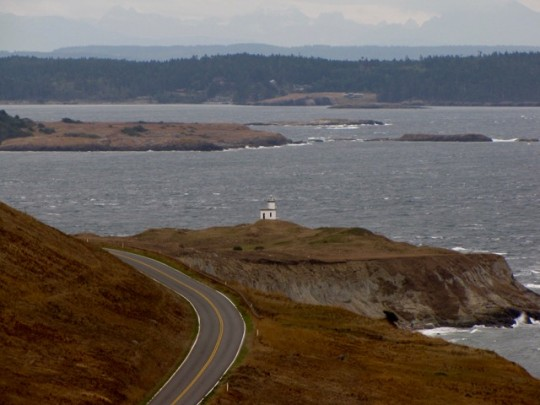 View Of Cattle Point Lighthouse From The Trail