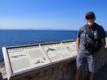 Searching for whales at Lime Kiln State Park