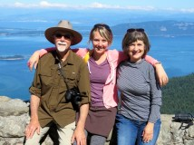 Family photo on Mt. Constitution
