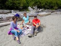 Picnic at Watmough Bay with Pam and John