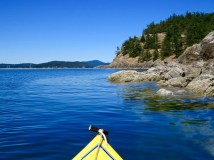 The bays are perfect for kayaking